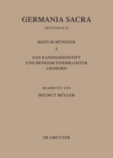 eBook Die Bistümer der Kirchenprovinz Köln. Das Bistum Münster 5. Das Kanonissenstift und Benediktinerkloster Liesborn Cover