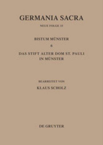 eBook Die Bistümer der Kirchenprovinz Köln. Das Bistum Münster 6. Das Stift Alter Dom St. Pauli in Münster Cover