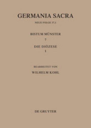 eBook Die Bistümer der Kirchenprovinz Köln. Das Bistum Münster 7,1: Die Diözese Cover