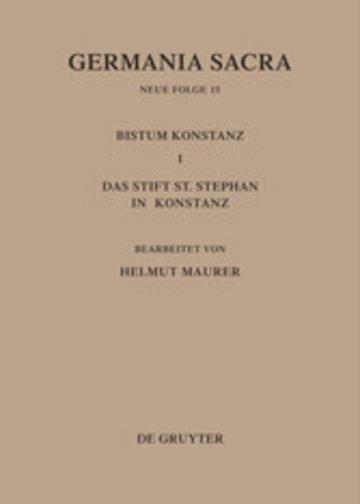 eBook Die Bistümer der Kirchenprovinz Mainz. Das Bistum Konstanz I. Das Stift St. Stephan in Konstanz Cover