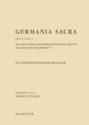 eBook Die Bistümer der Kirchenprovinz Mainz. Das Bistum Paderborn 1. Die Zisterzienserabtei Bredelar Cover
