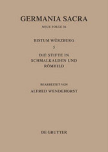 eBook Die Bistümer der Kirchenprovinz Mainz: Das Bistum Würzburg 5: Die Stifte in Schmalkalden und Römhild Cover