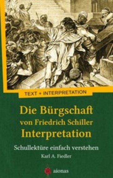 eBook Die Bürgschaft von Friedrich Schiller. Interpretation Cover