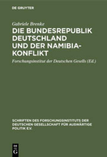 eBook Die Bundesrepublik Deutschland und der Namibia-Konflikt Cover