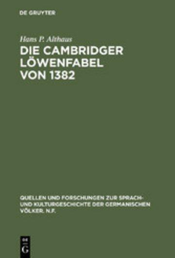 eBook Die Cambridger Löwenfabel von 1382 Cover