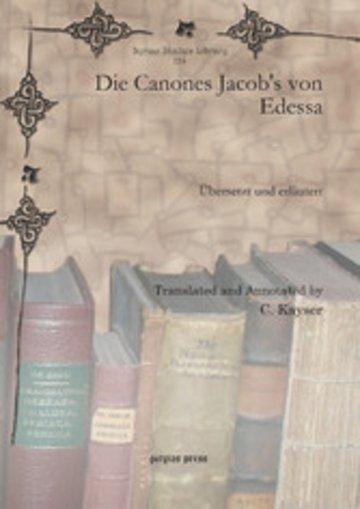 eBook Die Canones Jacob's von Edessa Cover