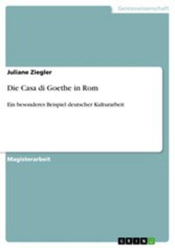 eBook Die Casa di Goethe in Rom Cover