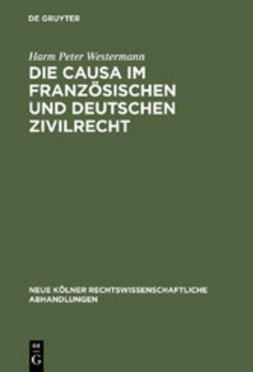 eBook Die causa im französischen und deutschen Zivilrecht Cover
