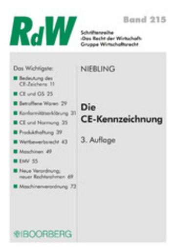 eBook Die CE Kennzeichnung Cover