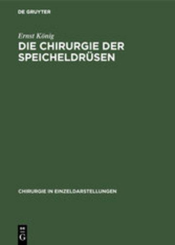 eBook Die Chirurgie der Speicheldrüsen Cover