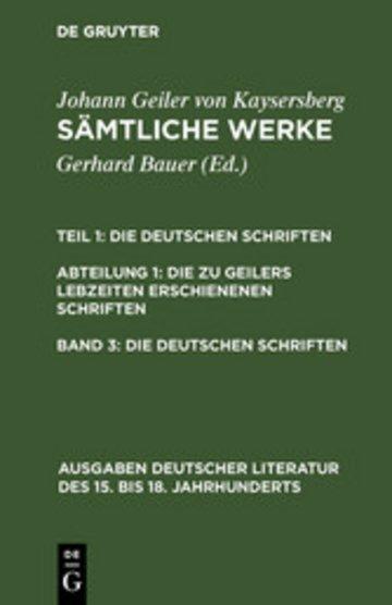 eBook Die deutschen Schriften Cover