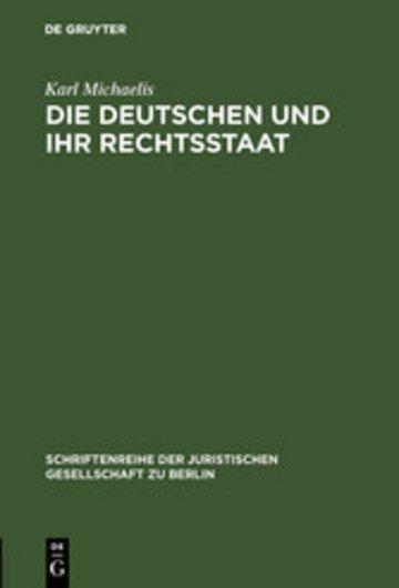 eBook Die Deutschen und ihr Rechtsstaat Cover