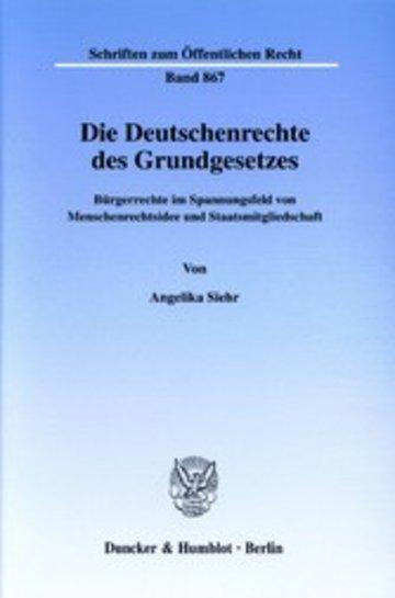 eBook Die Deutschenrechte des Grundgesetzes. Cover