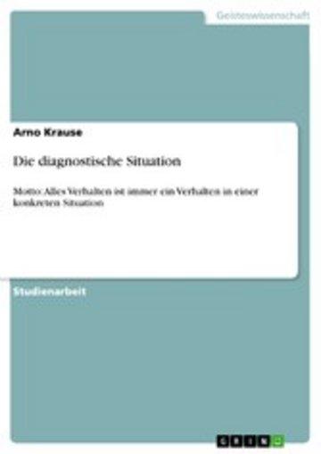 eBook Die diagnostische Situation Cover