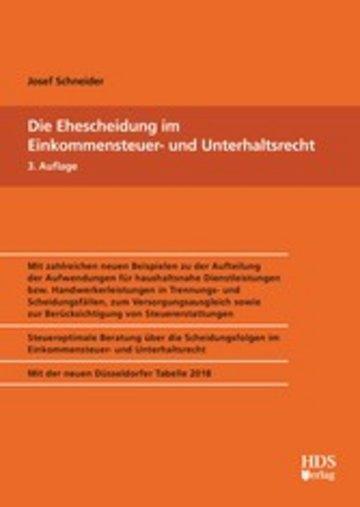 eBook Die Ehescheidung im Einkommensteuer- und Unterhaltsrecht Cover