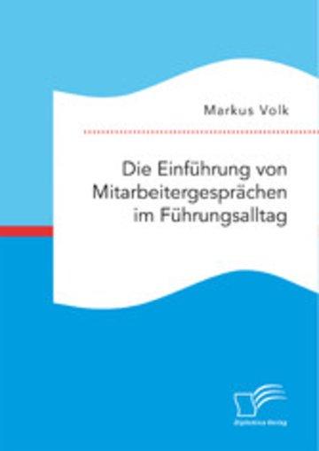 eBook Die Einführung von Mitarbeitergesprächen im Führungsalltag Cover