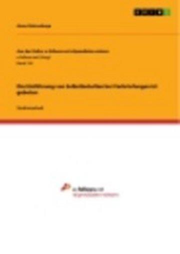 eBook Die Einführung von Selbstbehalten bei Verbriefungen ist geboten Cover