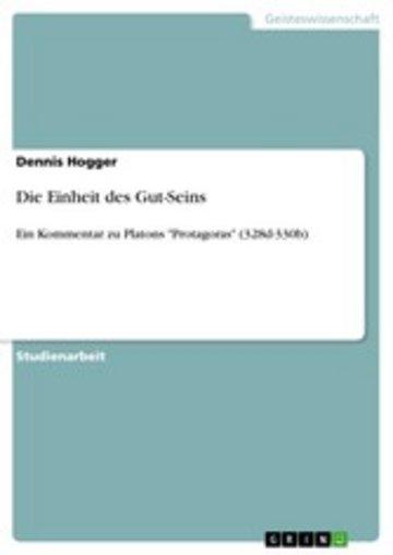 eBook Die Einheit des Gut-Seins Cover