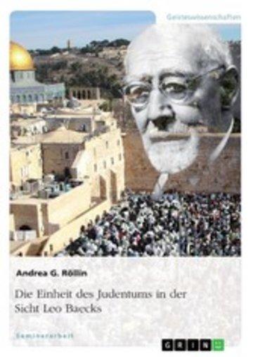 eBook Die Einheit des Judentums in der Sicht Leo Baecks Cover