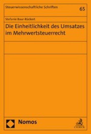 eBook Die Einheitlichkeit des Umsatzes im Mehrwertsteuerrecht Cover