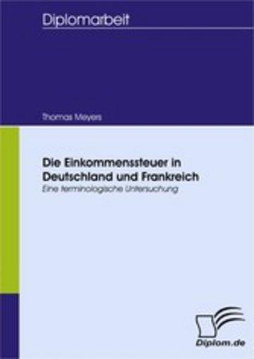 eBook Die Einkommenssteuer in Deutschland und Frankreich Cover