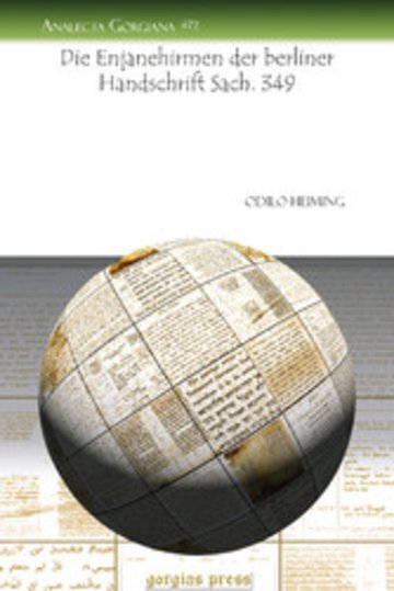 eBook Die Enjanehirmen der berliner Handschrift Sach. 349 Cover