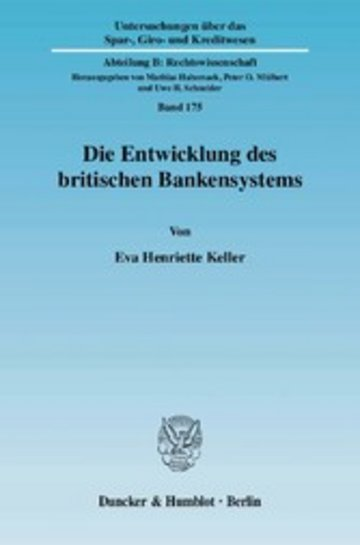 eBook Die Entwicklung des britischen Bankensystems. Cover