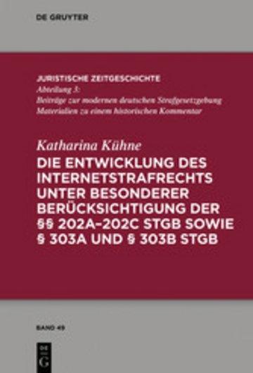eBook Die Entwicklung des Internetstrafrechts Cover