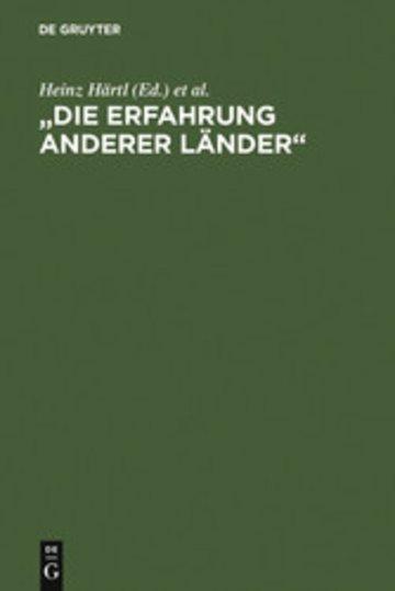 eBook 'Die Erfahrung anderer Länder' Cover