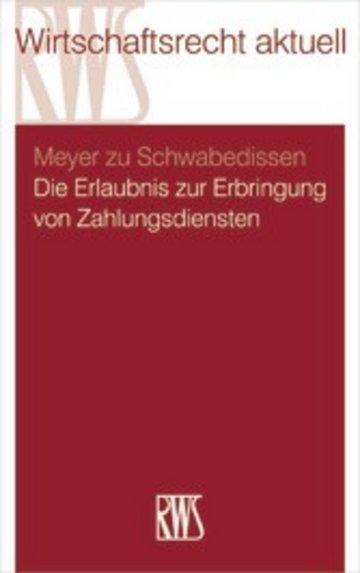 eBook Die Erlaubnis zur Erbringung von Zahlungsdiensten Cover