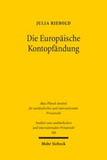 eBook Die Europäische Kontopfändung Cover