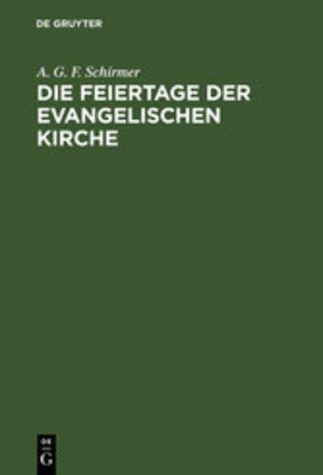 eBook Die Feiertage der evangelischen Kirche Cover