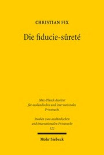 eBook Die fiducie-sûreté Cover