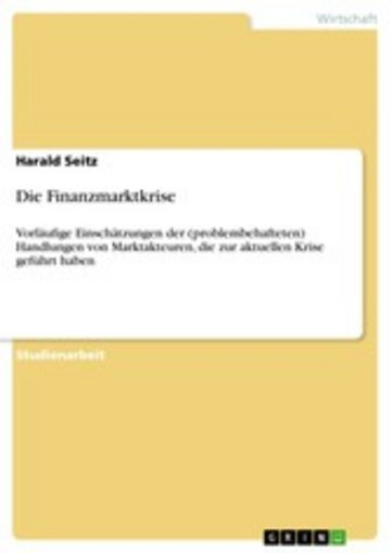 eBook Die Finanzmarktkrise Cover