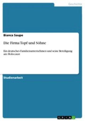eBook Die Firma Topf und Söhne Cover
