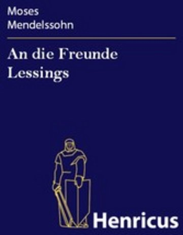 eBook An die Freunde Lessings Cover