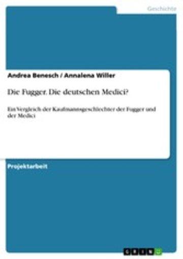 eBook Die Fugger. Die deutschen Medici? Cover