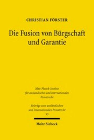 eBook Die Fusion von Bürgschaft und Garantie Cover