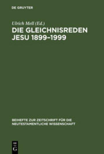 eBook Die Gleichnisreden Jesu 1899-1999 Cover