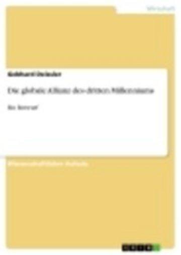 eBook Die globale Allianz des dritten Millenniums Cover