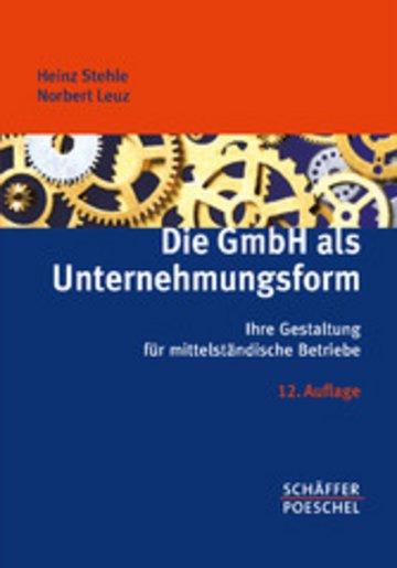 eBook Die GmbH als Unternehmungsform Cover