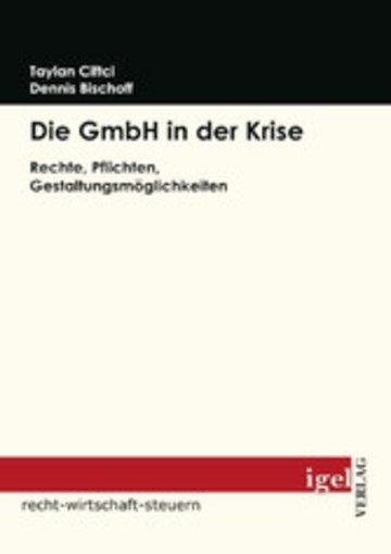 eBook Die GmbH in der Krise Cover