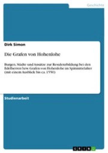 eBook Die Grafen von Hohenlohe Cover