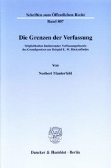 eBook Die Grenzen der Verfassung. Cover