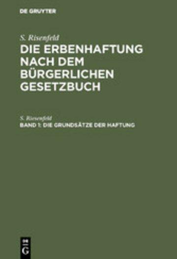 eBook Die Grundsätze der Haftung Cover