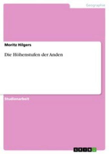 eBook Die Höhenstufen der Anden Cover