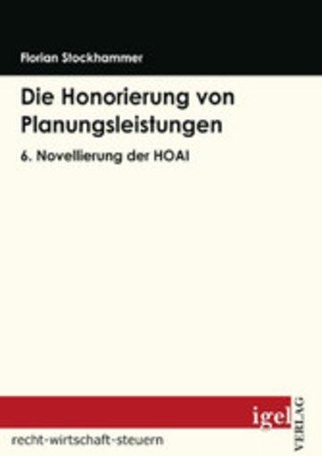 eBook Die Honorierung von Planungsleistungen Cover