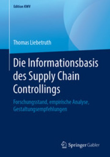 eBook Die Informationsbasis des Supply Chain Controllings Cover