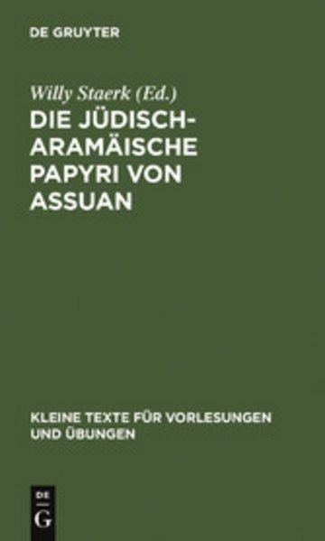 eBook Die jüdisch-aramäische Papyri von Assuan Cover