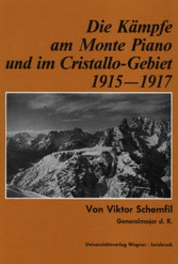 eBook Die Kämpfe am Monte Piano und im Cristallo-Gebiet (Südtiroler Dolomiten) 1915-1917 Cover
